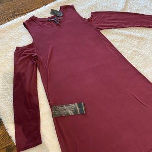 BCBG MaxAzaria cotton jersey hi/low maxi dress